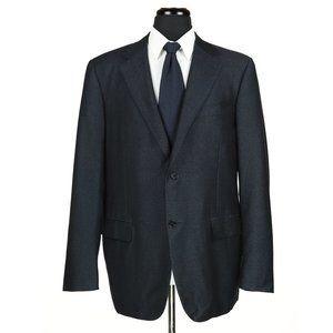 Canali 1934 Wool Sport Coat Blue/Black Crackle